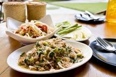 Spicy vermicelli minced pork salad Stock Image