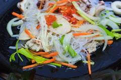 Spicy vermicelli salad Royalty Free Stock Photo