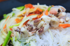 Spicy vermicelli salad Royalty Free Stock Images