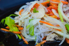 Spicy vermicelli salad Stock Image