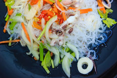 Spicy vermicelli salad Stock Photography