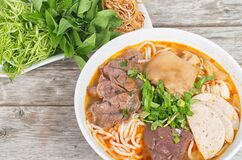 Free Spicy Vietnamese Beef Noodle - Bun Bo Hue Royalty Free Stock Photography - 192382257