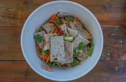 Spicy Vietnamese pork sausage Salad Royalty Free Stock Images