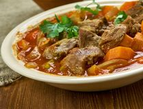 Spicy Welsh Lamb Royalty Free Stock Images