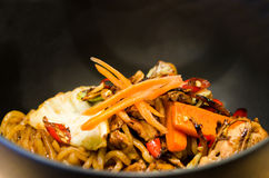 Spicy yakisoba Royalty Free Stock Photo