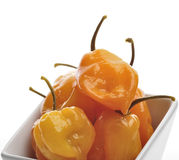 Spicy Yellow Peppers Royalty Free Stock Images