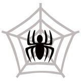 Spider. Illustration of a spider web and spider Stock Image