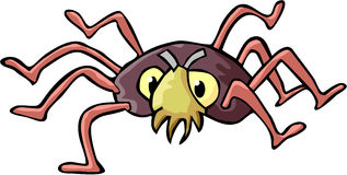 Spider. Color cartoon artwork line-art Royalty Free Stock Images