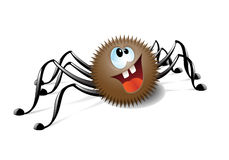 Spider. Cute smiling spider  looking upwards Stock Image