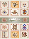 Spider. Image of the ancient peoples of the spider vector illustration
