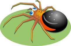Spider. Cartoon style spider Stock Photography