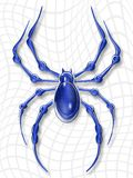 Spider. Cobweb and spider the metal monster Vector Illustration
