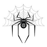Spider. For web and site Stock Image