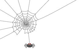 A spider actually doing a web Royalty Free Stock Image