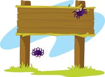 Spider Banner Royalty Free Stock Photo