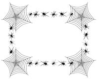 Spider border Stock Images