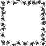 Spider border vector Stock Photography