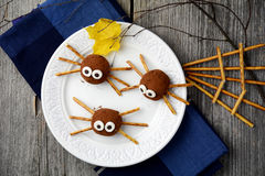 Spider candies for Halloween Royalty Free Stock Photos