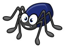 Spider cartoon Royalty Free Stock Photography