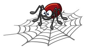 Spider cartoon. Illustration of cartoon funny spider Stock Photo