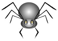 Spider cartoon. With funny face Stock Photos
