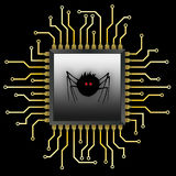 Spider_Chip Royalty Free Stock Images