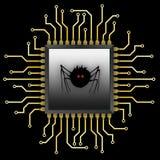 Spider_Chip Images libres de droits