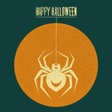 Spider crawls on the Moon Halloween Royalty Free Stock Photo