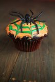Spider cupcake Royalty Free Stock Image