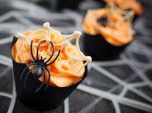 Spider cupcake Royalty Free Stock Photos