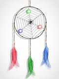Spider and dream catcher Stock Image