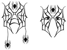 Spider face paint decorative Stock Photography