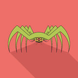 Spider flat icon Royalty Free Stock Images