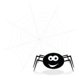 Spider funny and web vector illustration Royalty Free Stock Images