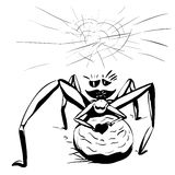 Spider girl in Love sketch Stock Image