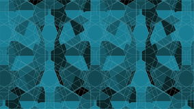 Spider Green Net Line Geometric Kaleidoscope Animation Royalty Free Stock Image