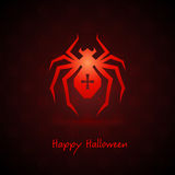 Spider for halloween on background Stock Photos
