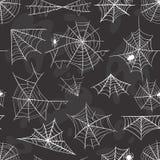 Spider Halloween celebration decoration web silhouette vector set Stock Photography