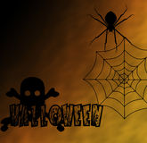 Spider on Halloween Stock Photography