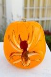 Spider Halloween Pumpkin Stock Photo