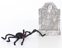 Spider and headstone Stock Photo