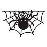 Spider home icon, simple style vector illustration