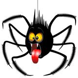 Spider Horrified Fun Cartoon Character. Funny and Spooky Halloween Spider Cartoon Character looking scared and horrified by something he saw Stock Photography
