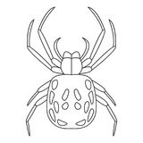 Spider icon. Simple element illustration. Spider symbol design from Insect collection set. Can be used in web and mobile. On white background Royalty Free Stock Images