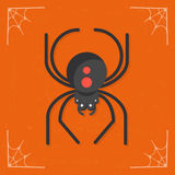 Spider icon vector royalty free stock image