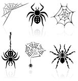 Spider icons Royalty Free Stock Image