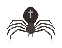 Spider illustration. Black Widow. Stock Photo