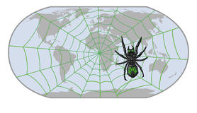 Spider-Internet Royalty Free Stock Photos