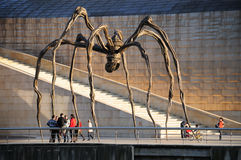 The Spider of Louise Bourgeois - Bilbao, Spain. Bilbao, Spain - May 02, 2009: The Spider, sculpture of Louise Bourgeois 1911, 2010 in the Guggenheim Museum Stock Images