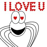 Spider in love. An illustration of a spider Royalty Free Illustration
